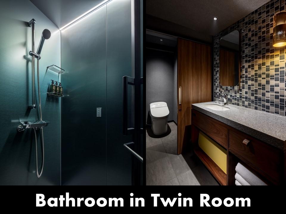 ツインルーム/洗面台&シャワーブース