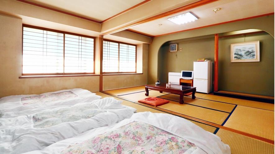◆6畳+6畳客室二間続き◆広いお部屋で仲間や家族と団らん♪