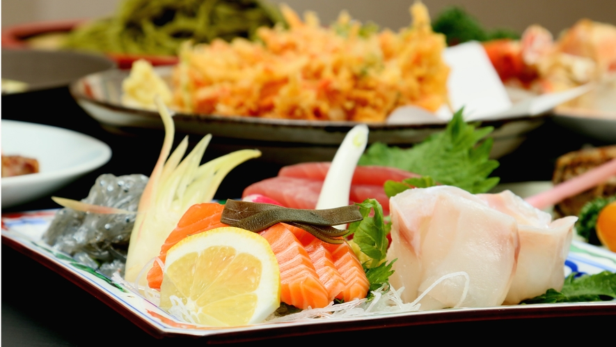◆グレードアップコース◆お造りが4種盛りになります。静岡の海の幸をご堪能頂けます♪