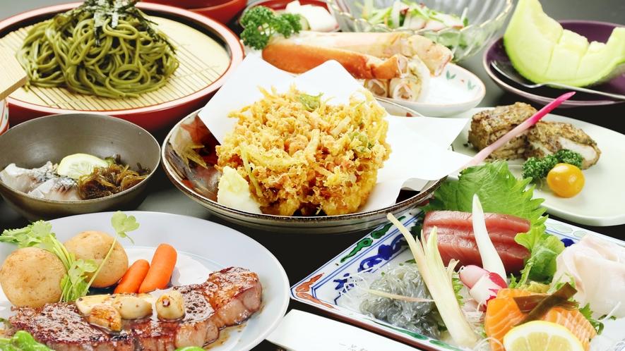 ◆グレードアップコース◆料理の内容は仕入れにより変わります!旬な食材や地元の食材が並びます♪