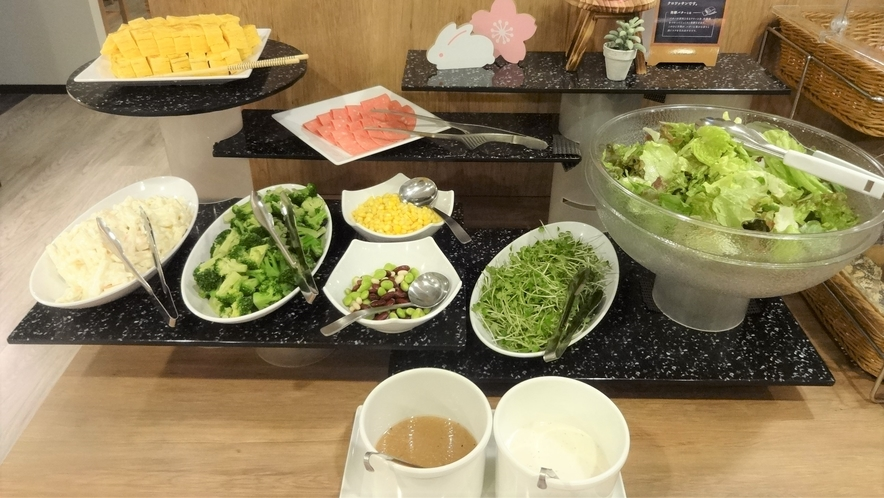 朝食バイキング:サラダバー