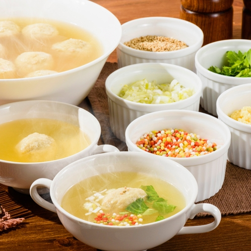 鶏つくねスープ【朝食バイキング】
