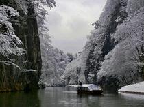 【周辺観光】《名勝 日本百景・猊鼻渓(冬)》徒歩で約8分