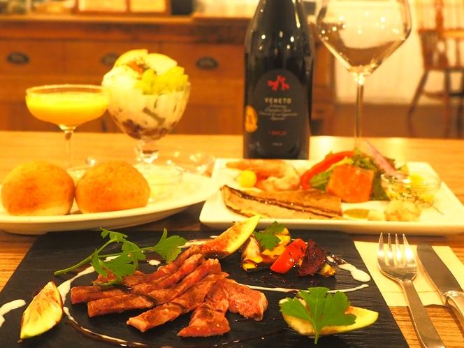 【お食事】《ご夕食》前沢牛ステーキプラン