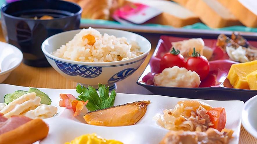 朝食は和食スタイル♪