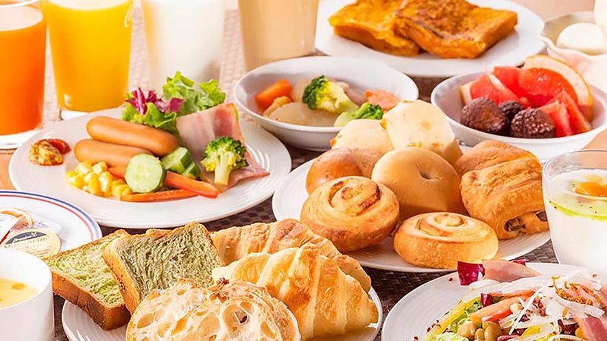 朝食は洋食スタイル♪