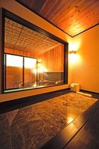 【117・118号室】二人仲良く寝そべりながらTVも見られる専用低温岩盤浴付