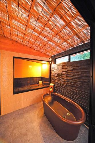 癒し風呂付コテージタイプ 301号室 陶器風呂