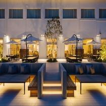 【施設】ホテルシーモア内にあるBBQテラス「mikan terrace」