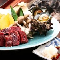 夕食◆旬の食材を囲炉裏焼きでお楽しみください♪