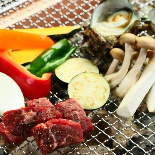 夕食◆旬の食材を炭火焼き!焼き加減はお好みで♪