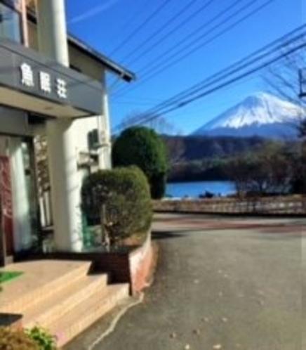 宿前からの富士