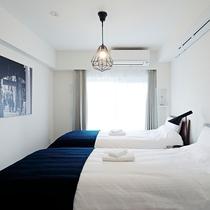 【クアッドルーム】シングルベッド×2台のお部屋