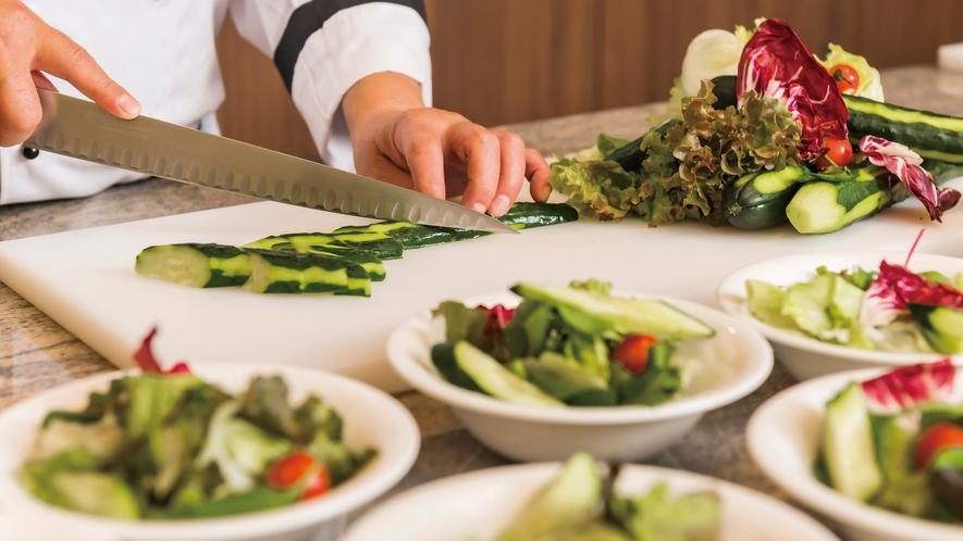 【フレッシュサラダ】新鮮さが命!野菜本来の瑞々しさをお楽しみいただけます