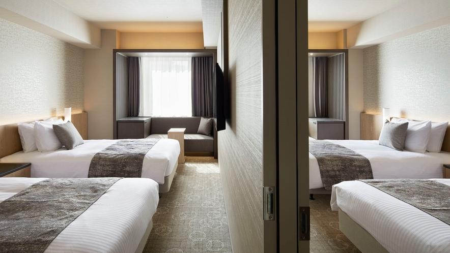 【ベッド4台】コネクティングルーム※スーペリアツイン(28平米/禁煙)2室のコネクティング仕様