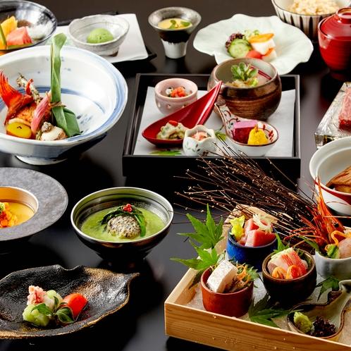 【夕食】季節の食材と、箱根の恵みをふんだんにつかったお料理の数々