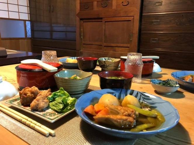 ご夕食「おまかせの家庭料理富貴仕立」