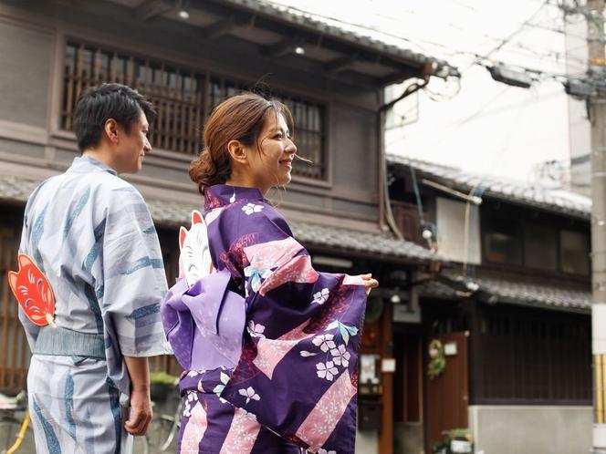 祇園祭は、色浴衣で♪