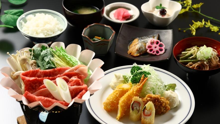 冬のご夕食一例。牛すき鍋。味もボリュームも大満足♪