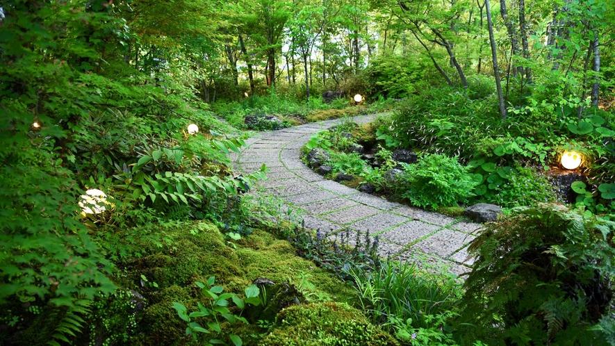 ・緑豊かな3000平米の敷地にひっそりと佇む宿