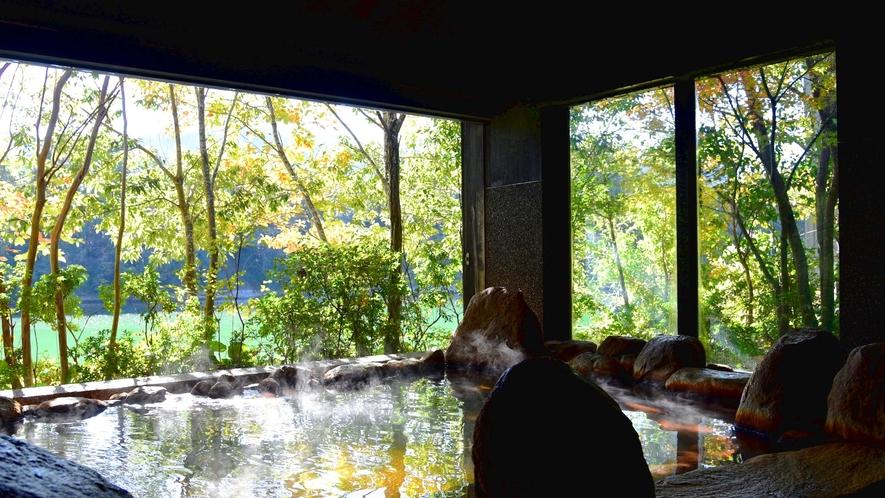 ・美しい湖畔の風景を眺めながらの湯あみをどうぞ