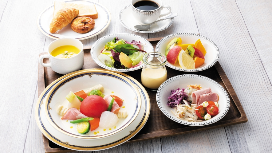 【朝食】豆乳ポトフプレート Soy milk pot-au-feu set
