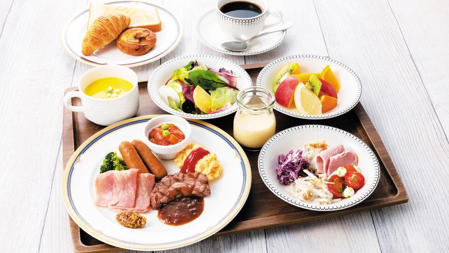 【朝食】ミートプレート Steak set
