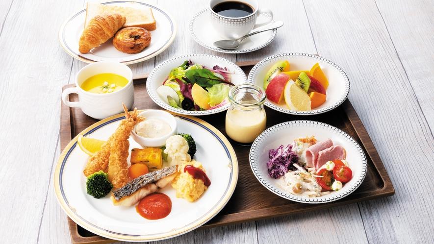 【朝食】フィッシュプレート Fish set