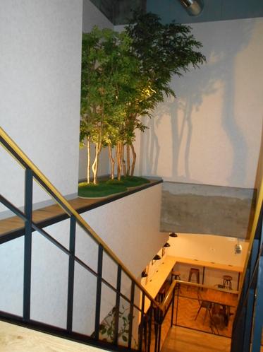 2階男性フロアーへの階段