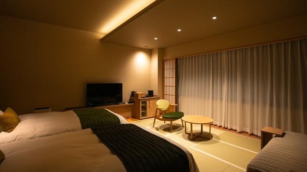 和洋室(プレミアムルーム 多機能シャワー&バス付)
