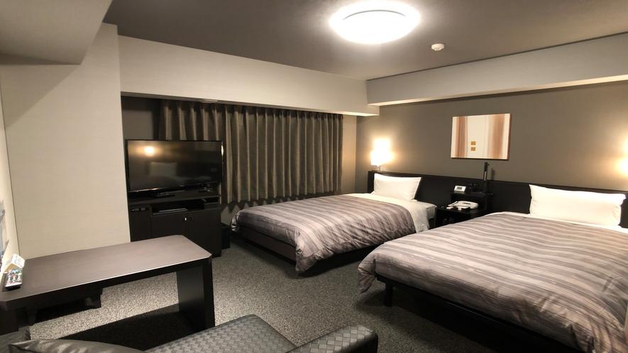 ★<ツインルーム>19平米 ベッド幅110センチ×2台
