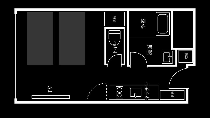 eph ツイン・キッチンあり(1階)間取り※お部屋により異なる場合がございます。