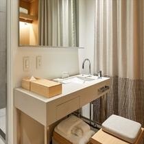 シングルベッドルーム 洗面台