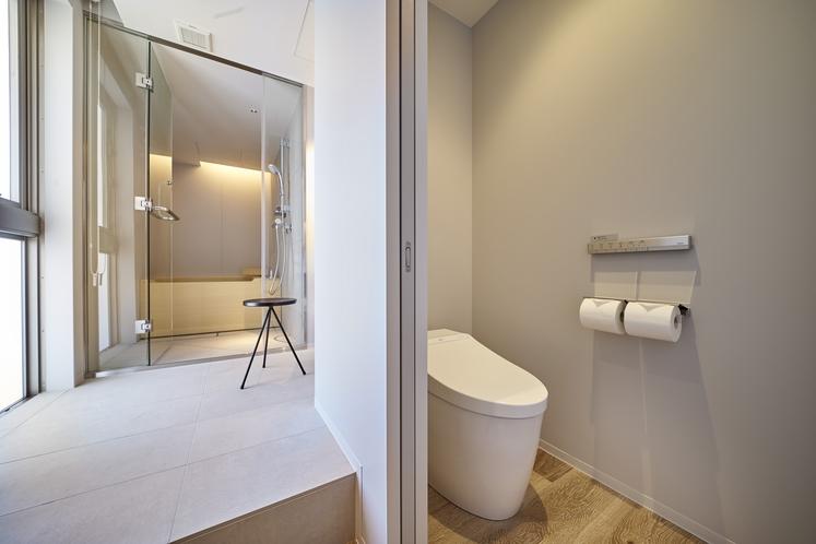 プレミアツインベッドルーム 〈檜風呂付〉トイレ