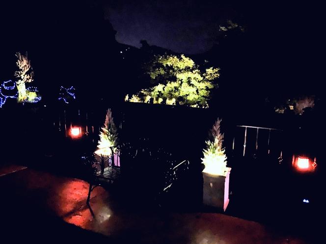 パーキングテラスの夜景