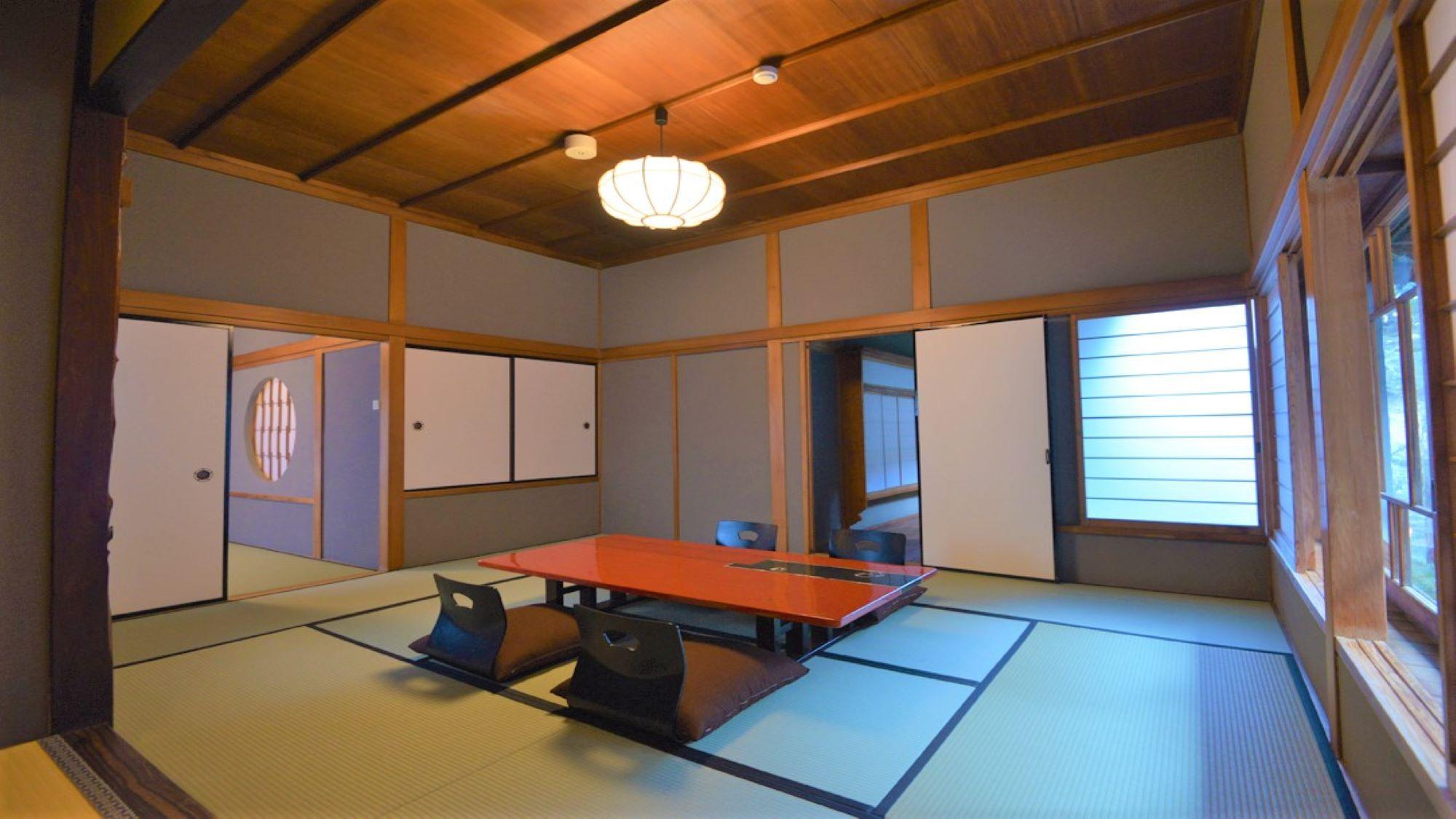 【登録有形文化財 温泉檜風呂付】旧館 特別室 2名〜3名