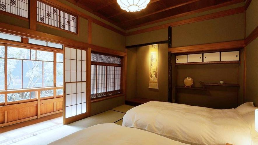 【登録有形文化財 温泉檜風呂付】旧館 特別室