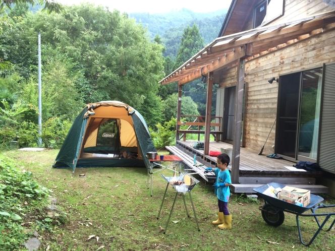 キャンプ、バーベキュー