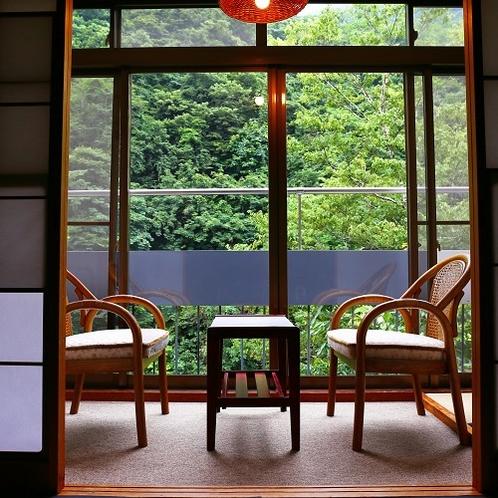 【12畳】松川渓谷の夏に耳を傾けて…小鳥のさえずり、虫の声