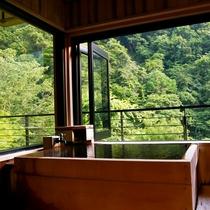 【藤】松川渓谷の深緑に囲まれて、心から寛ぐ露天風呂