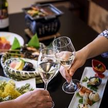 ご夕食には高山産ワインを添えてお愉しみください