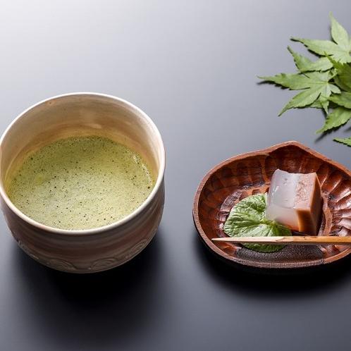 ようこそ!山田館へ。ウエルカムお抹茶サービス♪