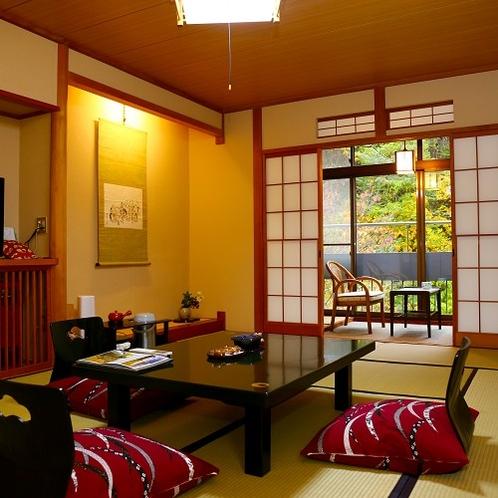【12畳】松川渓谷の紅葉がすぐそこに…ゆったり寛ぎの和室