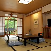 【12畳】ひんやり畳のお部屋で寛ぐ、松川渓谷の夏