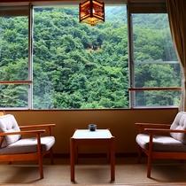 【青嵐】部屋からは、重なる木々、緑の美しい眺め