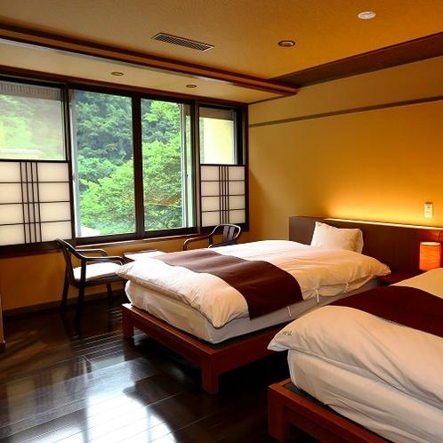 【なでしこ】新緑の松川渓谷に寄り添うベッドルーム