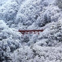 【景観】白銀に赤が映える高井橋