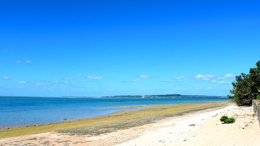 【景色】コテージから海まで歩いてすぐ。宮古島の美しい海を満喫できます!