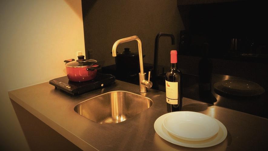 【リビング棟】調理器具はフロントにて無料貸出しをしております。