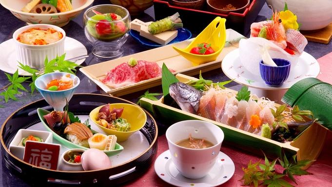 【個室食】梅【お得な伊豆会席】A5和牛「静岡そだち」の炙り寿司や名物「伊豆まぶし」♪貸切露天無料